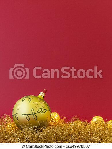 Beautiful Christmas.Beautiful Christmas Balls On Gold Glitter