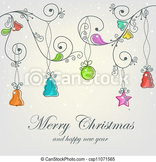 Beautiful Christmas card - csp11071565