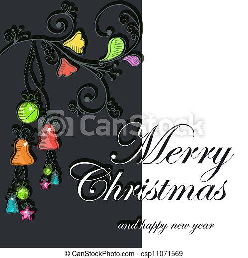 Beautiful Christmas card - csp11071569