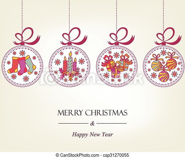 Beautiful Christmas card  - csp31270055