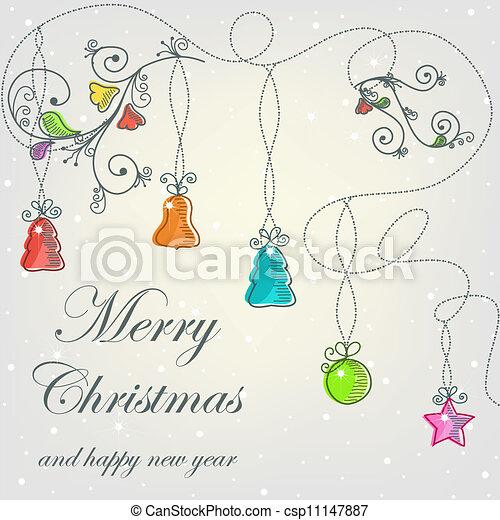 Beautiful Christmas card - csp11147887