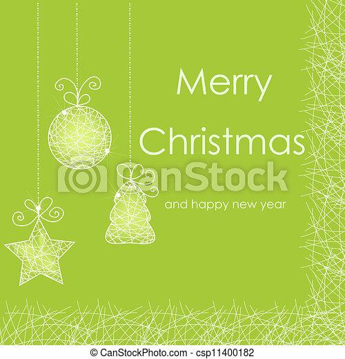 Beautiful Christmas card - csp11400182