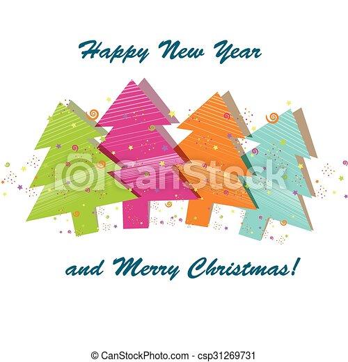 Beautiful Christmas card  - csp31269731