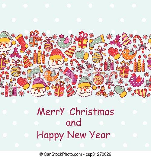 Beautiful Christmas card - csp31270026