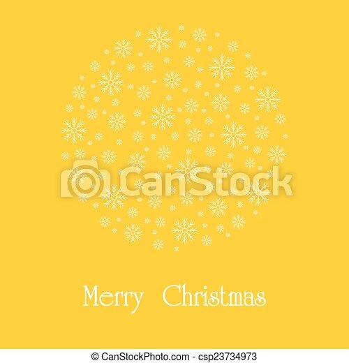 Beautiful Christmas card.  - csp23734973