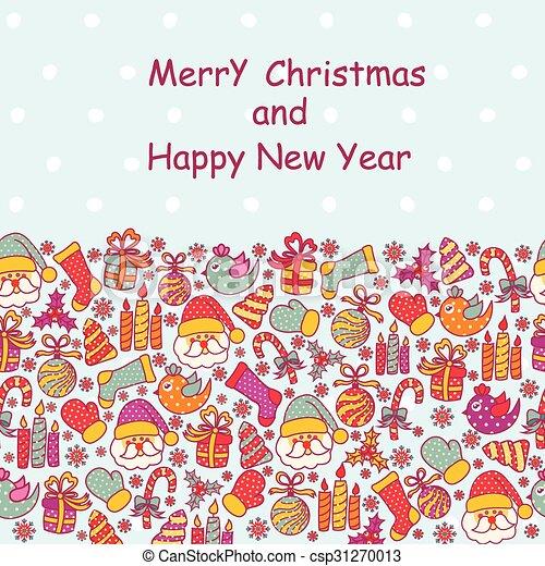 Beautiful Christmas card  - csp31270013