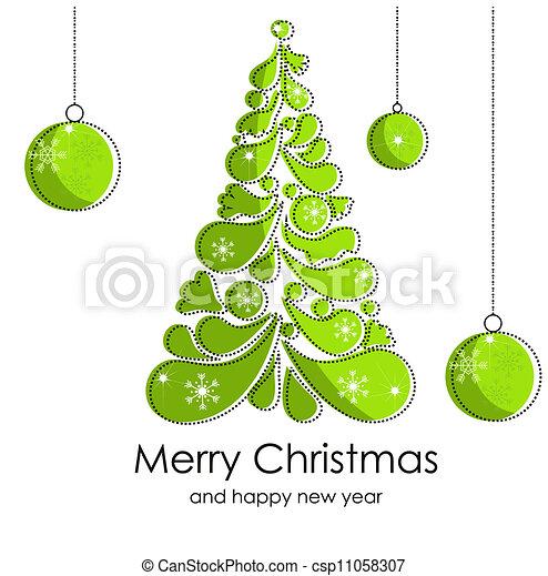 Beautiful Christmas card - csp11058307