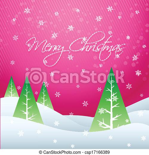 beautiful christmas design - csp17166389