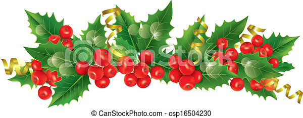 beautiful christmas garland contains transparent objects rh canstockphoto com christmas garland clip art borders christmas garland clipart png