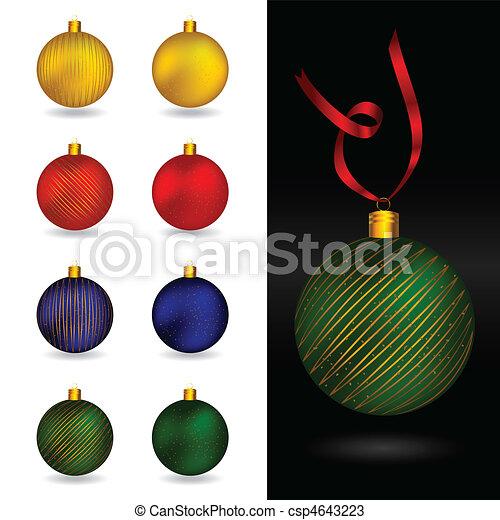 Beautiful christmas ornament balls - csp4643223