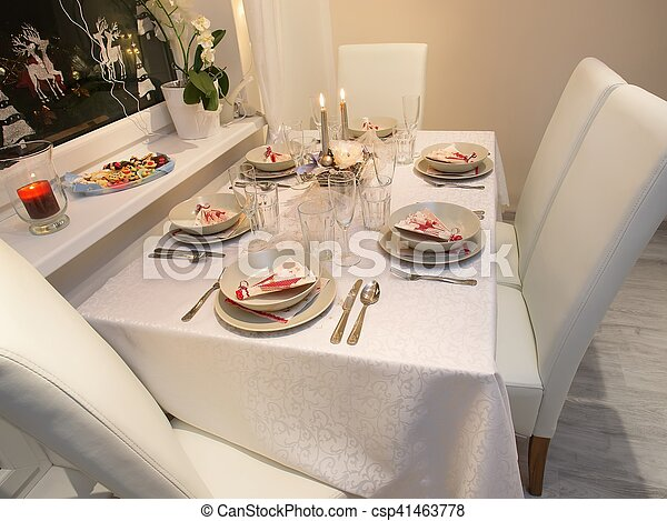 Beautiful christmas table setting. Beautifully set table for ... Beautiful Christmas Table Setting Beautifully Set Table For & Inspiring Beautifully Set Tables Gallery - Best Image Engine ...