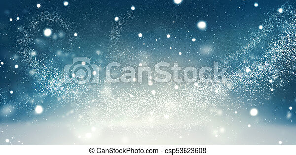 Beautiful Christmas winter holiday snow background - csp53623608