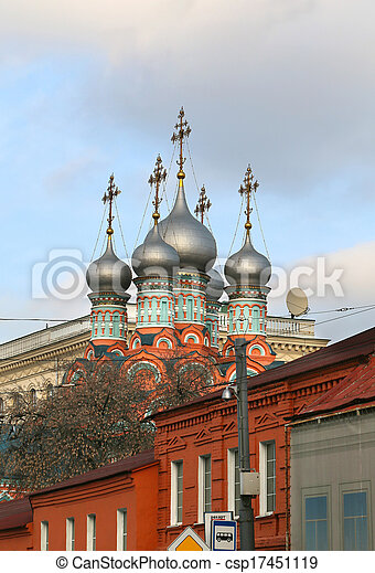 beautiful church in Moscow - csp17451119