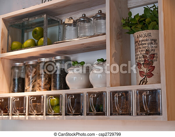 Ordinaire Beautiful Classical Country Style Kitchen Shelves And Spices Rack