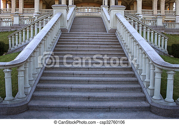 Beautiful Classical Mansion Staircase In The Park   Csp32760106