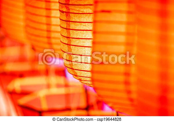 Beautiful close-up international lanterns - csp19644828