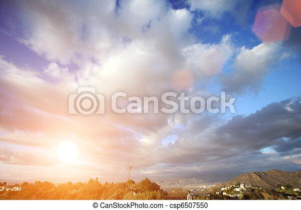 Beautiful clouds over blue sky - csp6507550