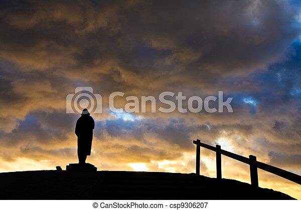 Beautiful cloudscape at sunset - csp9306207