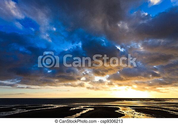 Beautiful cloudscape at sunset - csp9306213
