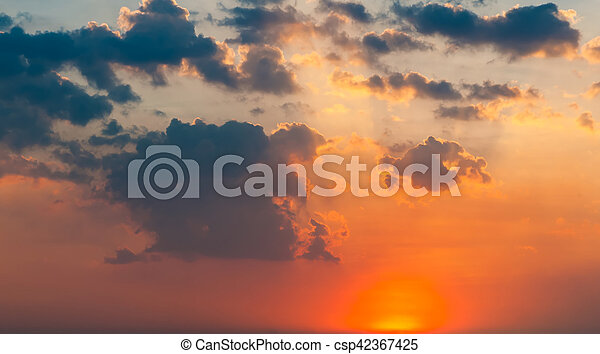 Beautiful cloudscape with sunray - csp42367425