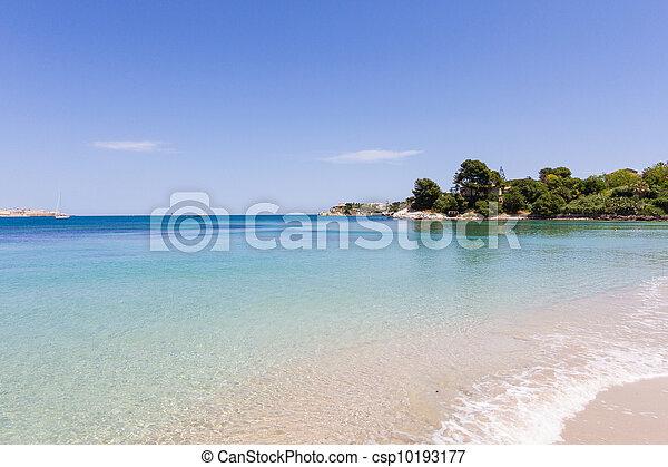 beautiful coast on the Blue Sea, siracusa, sicily, italy - csp10193177