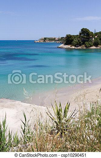 beautiful coast on the Blue Sea, siracusa, sicily, italy - csp10290451