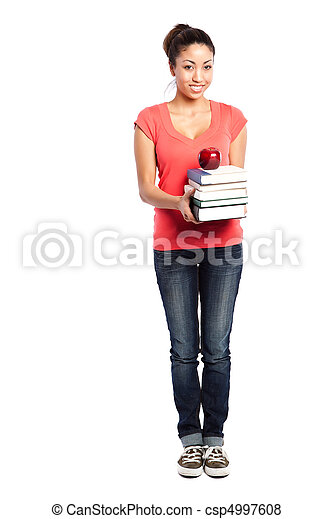 Beautiful college student - csp4997608