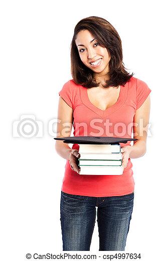 Beautiful college student - csp4997634