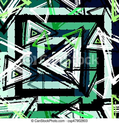 Beautiful colorful abstract graffiti polygons on a black background vector illustration - csp47902803