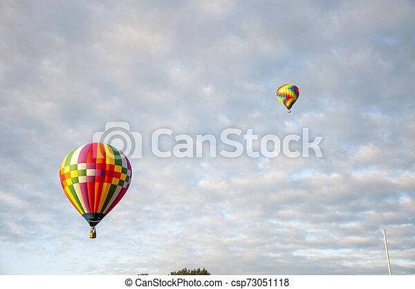 Beautiful Colorful Hot Air Baloon - Thirty Three - csp73051118
