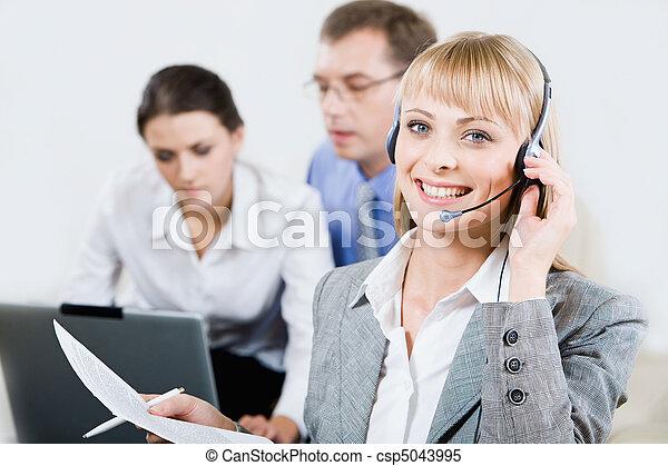 Beautiful consultant - csp5043995