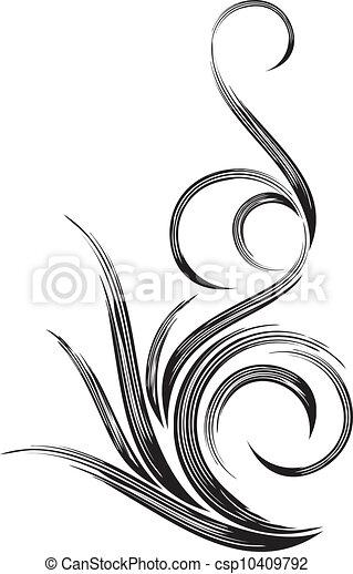 Beautiful decorative design element - csp10409792