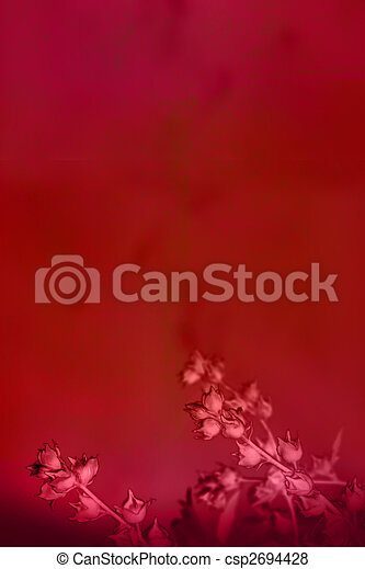 Beautiful deep red background with flowers - csp2694428