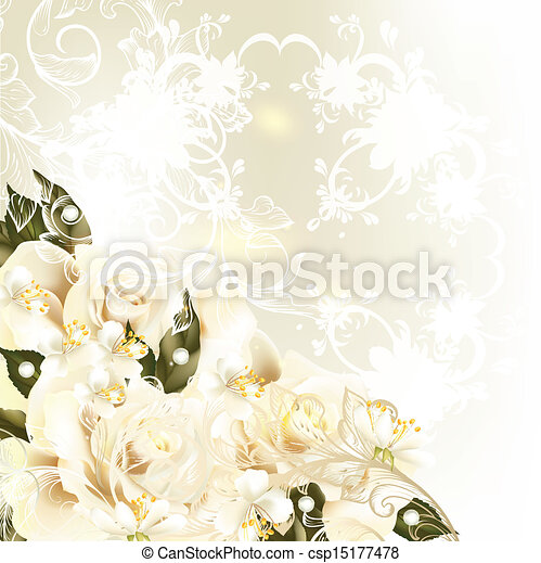 Beautiful design background with pa - csp15177478