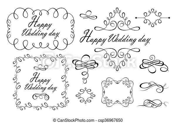 Beautiful design for wedding - csp36967650