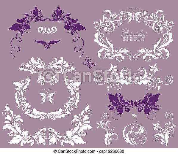 Beautiful design for wedding invitations - csp19266638