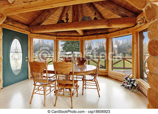 Log Dining Room Set