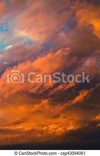 beautiful dramatic winter cloudscape - csp43094061