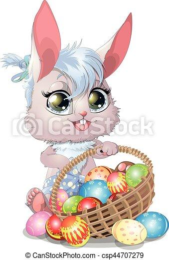 beautiful Easter Bunny - csp44707279