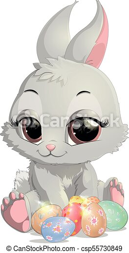 beautiful Easter rabbit - csp55730849
