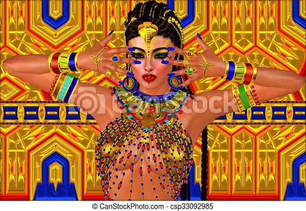 Beautiful Egyptian woman  - csp33092985