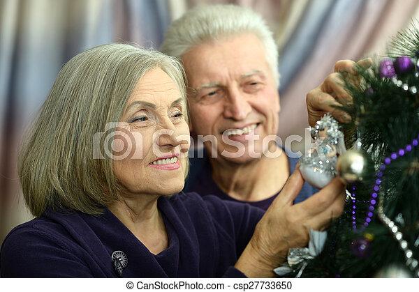 beautiful elderly couple  - csp27733650