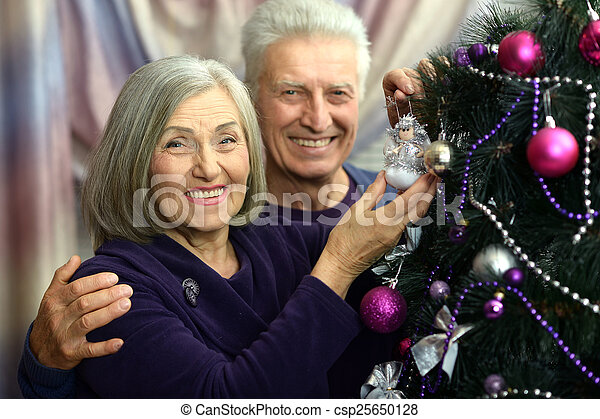 beautiful elderly couple - csp25650128