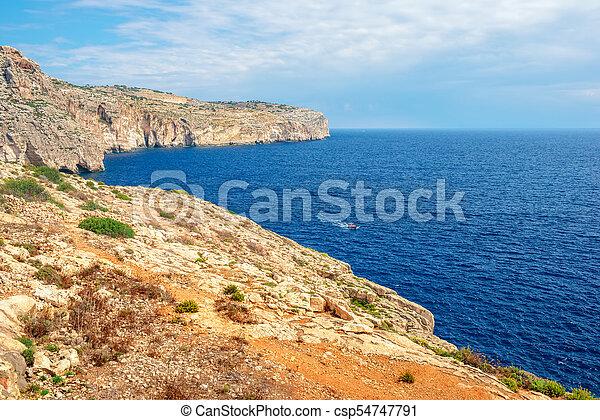 Beautiful European View Of Blue Lagoon Malta