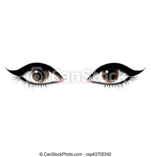 beautiful eyes - csp43705342
