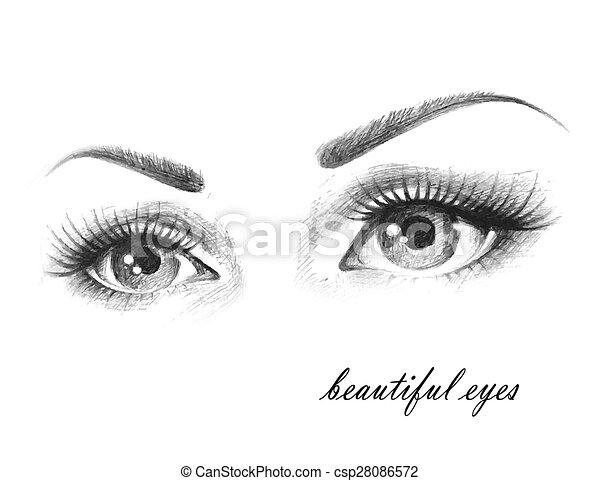 beautiful eyes - csp28086572