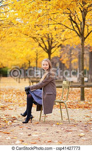 Beautiful fall day in Paris - csp41427773
