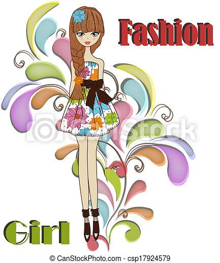 Beautiful fashionable girl - csp17924579