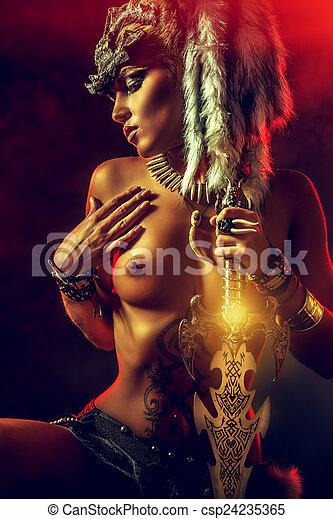 Elegant nude dancers fantasy art excited too