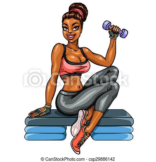 Beautiful fit woman - csp29886142